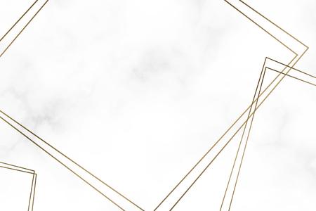 Golden square frame template vector Illustration