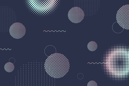 Geometric halftone background vector