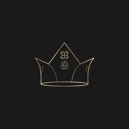 Luxurious black crown design vector Иллюстрация
