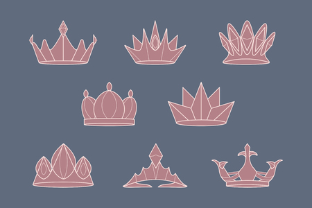 Luxurious royal crown designs vector collection Imagens - 123765064