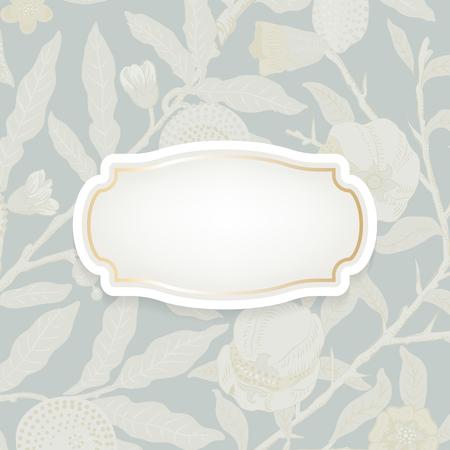 Vintage natural patterned badge vector