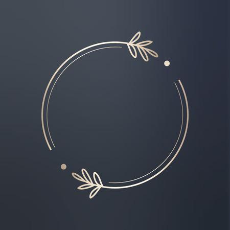 Round floral design vector