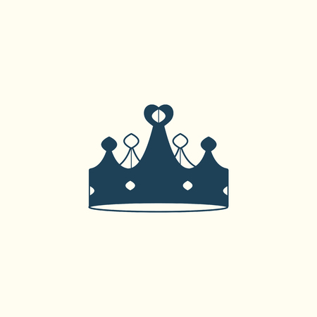 Blue luxurious crown design vector