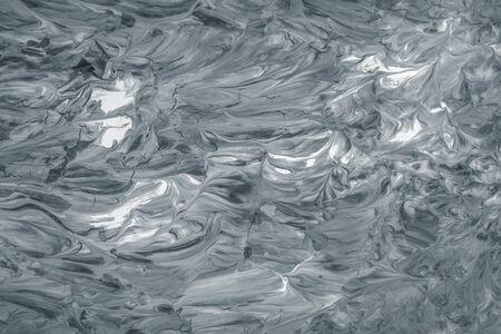 Gray oil paint brush stroke textured background Stock fotó