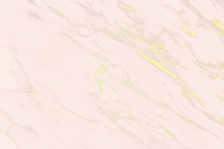 Pink with yellow scratches marble surface Standard-Bild