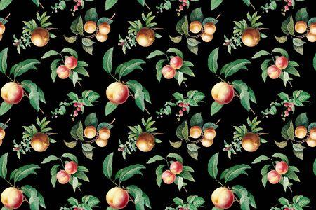 Hand drawn fruits wallpaper illustration Reklamní fotografie
