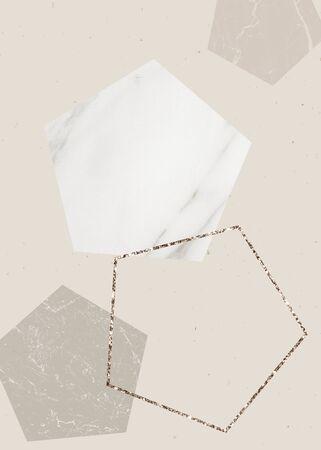 Collection de design de cadre pentagone scintillant