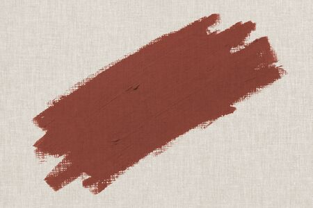 Orangish brown oil paint brush stroke texture on a beige canvas textured background
