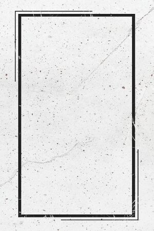 Rectangle frame on white marble textured background