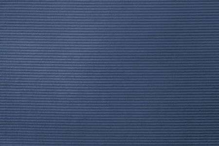 Blue corduroy fabric textured background Stock Photo