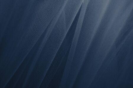 Blauwe tule draperie getextureerde achtergrond