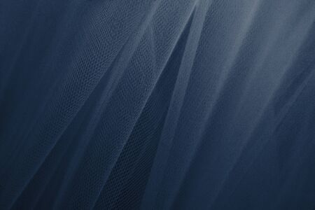 Blue tulle drapery textured background Banco de Imagens