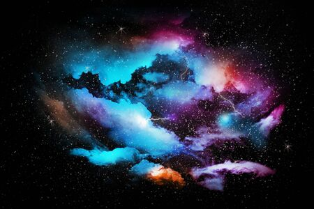 Colorful abstract universe textured background Stok Fotoğraf