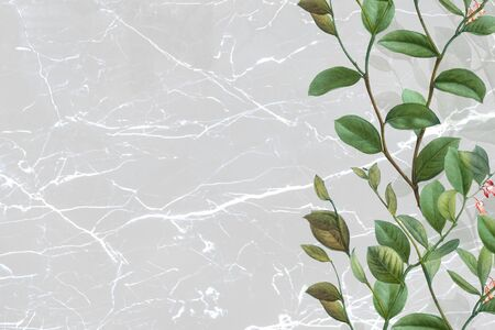 Floral gray marble textured background Stock Photo - 124724886