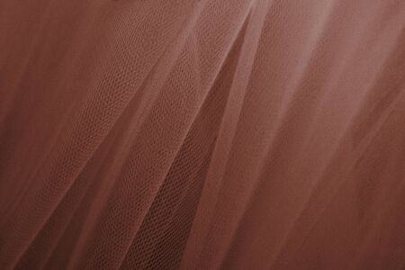 Brown tulle drapery textured background 写真素材 - 124724888