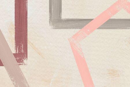 Vecteur de fond abstrait cadre peint coloré