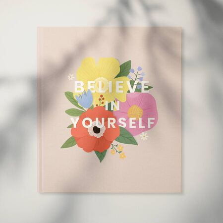 Believe in yourself floral frame on a wall Stok Fotoğraf