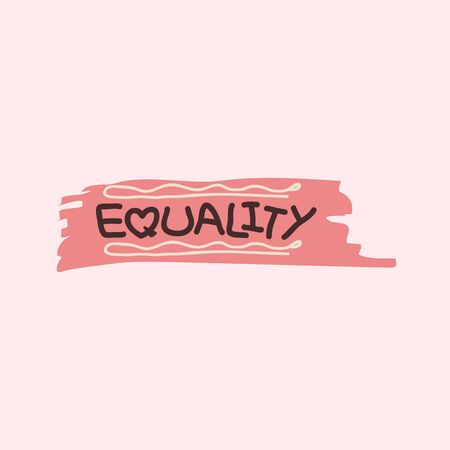 Equality on a brush stroke background vector