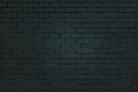 Dark green brick wall textured background