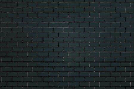 Dark green brick wall textured background