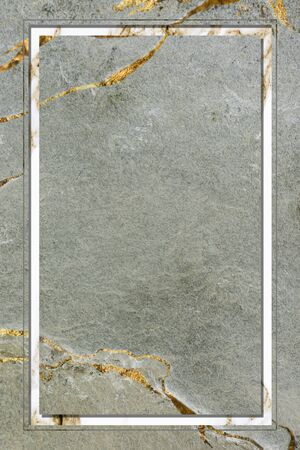 Rectangle frame on green marble background