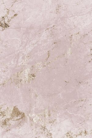 Pink and gold marble textured background Banco de Imagens