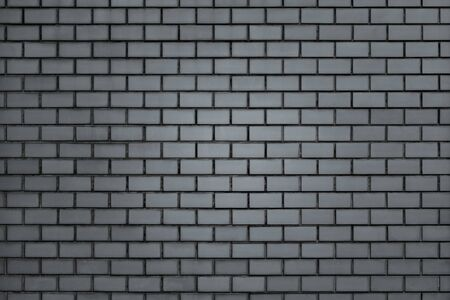 Gray brick wall textured background Banco de Imagens