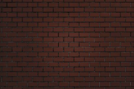 Brownish-red brick wall textured background Imagens
