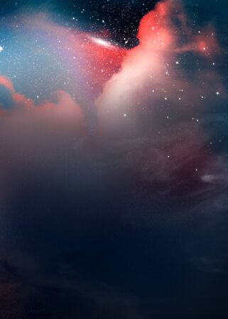Colorful abstract universe textured background Imagens