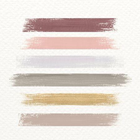 Pastel acrylic brush stroke vector