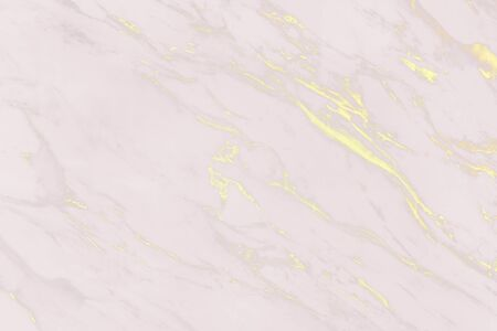 Pink with yellow scratches marble surface 免版税图像