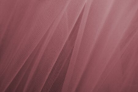 Pink tulle drapery textured background 写真素材 - 125497308