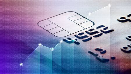 Close up of a credit card Stockfoto