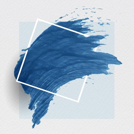 Blue brush stroke banner vector
