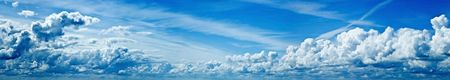 cotton cloud: beautiful blue sky panorama Stock Photo