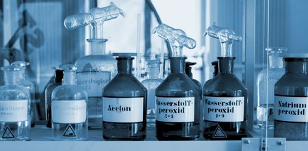 drug discovery: Chemical Lab Stock Photo
