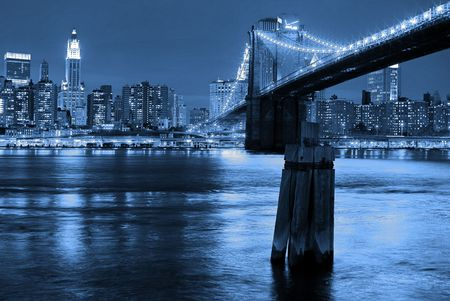 Manhattan and Brooklyn Bridge
