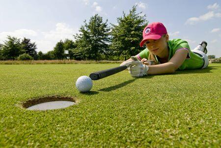 teen golf: Golf Player