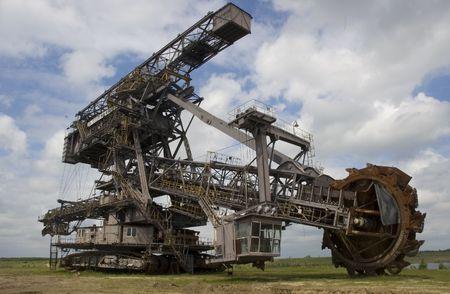 maquinaria pesada: Grandes embolsadora Foto de archivo
