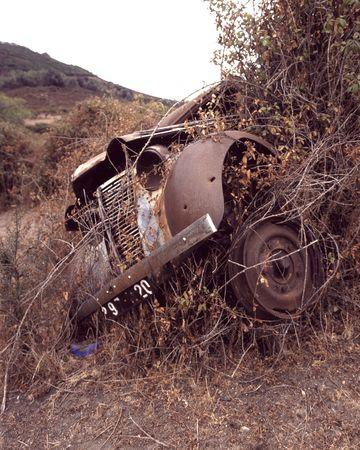 eyesore: Scrap Car Stock Photo