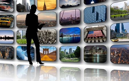 New York on tv screens Stock Photo - 3687667