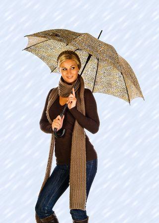woman with an umbrella photo
