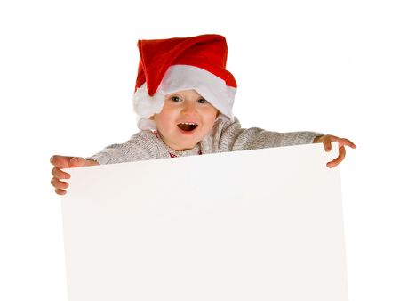 little boy as santa claus Stock Photo - 3922760