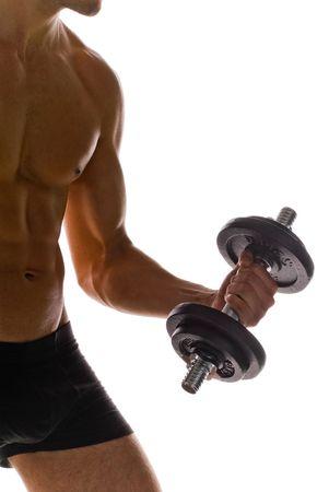muscular build: Bodybuilding