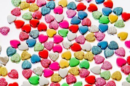 sweetness: sweet coloured hearts