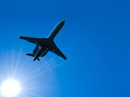 jetliner: aeroplane Stock Photo