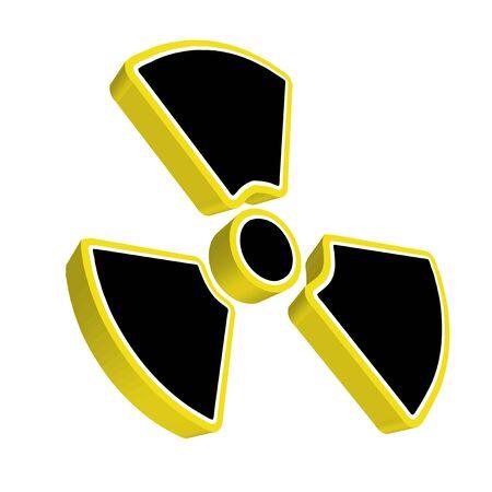 Radioactive yellow sign Stock Photo - 6230666