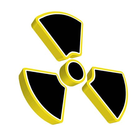 Radioactive yellow sign photo