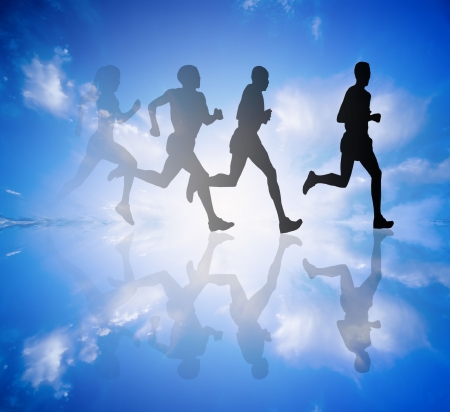 freetime: a group of runners Stock Photo