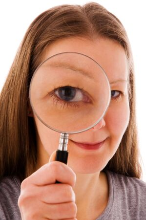 wen: woman with magnifying glass
